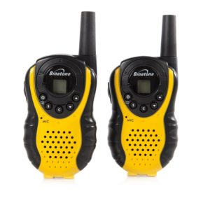Binatone Walkie Talkie für Kinder - Binatone Latitude 100 Twin Walkie-Talkie, gelb/schwarz
