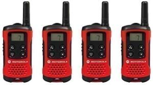 Walkie Talkie 4er Set - MOTOROLA TLKR T40 PMR446 Lizenzfreies Zwei-Wege Funkgerät 4er Set