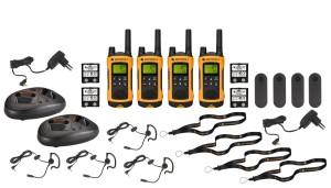 Walkie Talkie 4er Set - Motorola TLKR T80 Extreme Quadpack PMR Funkgeräte nach IPx4