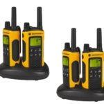 Walkie Talkie Test - Motorola TLKR T80 Extreme Quadpack PMR Funkgeräte nach IPx4